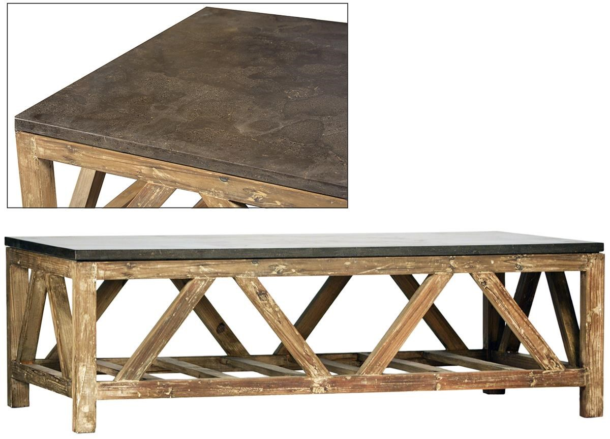 Dovetail Furniture Finn Concrete Top Coffee Table Howell Furniture