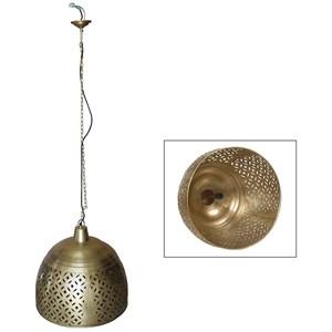 Dovetail Furniture Lighting Curtis Brass Hanging Lamp