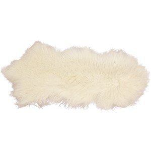 Dovetail Furniture Mohair Mohair White Rug