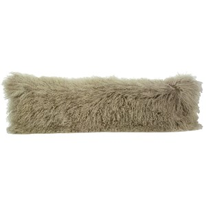 Dovetail Furniture Mohair Mohair Light Grey Pillow