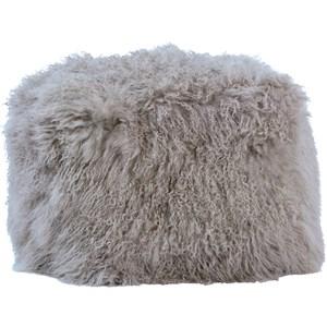Dovetail Furniture Pillows & Poufs Mohair Pouf