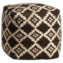 Dovetail Furniture Pillows & Poufs Batala Pouf - Item Number: DOV3055