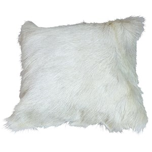 Dovetail Furniture Pillows & Poufs Fur Pillow White