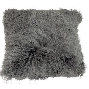 Dovetail Furniture Pillows & Poufs Fur Pillow Grey