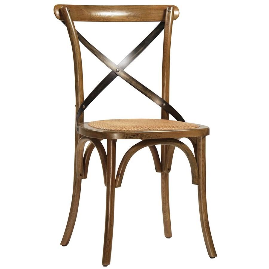 Dovetail Furniture Portebello Portebello Dining Chair With Steel