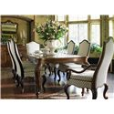 Drexel Heritage® At Home in Belle Maison Table for Royals with Two Leaves - Shown with Parlor Side and Arm Chairs