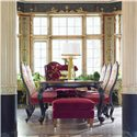 Drexel Heritage® At Home in Belle Maison The Parlor Upholstered Side Chair - Shown in Dining Room with Table for Royals