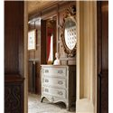 Drexel Heritage® At Home in Belle Maison Three Drawer Handsome Chest - Shown with Mirror