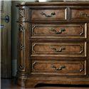 Drexel Heritage® Casa Vita Lombardi Dresser w/ 9 Drawers - Detail of front of dresser