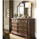 Drexel Heritage® Casa Vita Lombardi Dresser w/ 9 Drawers - Shown with Gallo Mirror