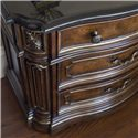 Drexel Heritage® Casa Vita Marino Night Stand w/ Black Granite Top - Detail of front