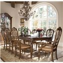 Drexel Heritage® Casa Vita 9-Piece Giordano Dining Table Set - Item Number: 875-660+2x720+6x721