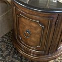 Drexel Heritage® Casa Vita Rizzo Commode  w/ Black Granite Top - Detail of carving on front of commode