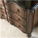 Drexel Heritage® Casa Vita Moretti Hall Chest w/ Black Granite Top - Detail of Hall Chest Front