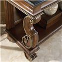Drexel Heritage® Casa Vita Mancini Console with Black Granite Top - Detail of scrolled leg