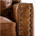 Drexel Heritage® Leather Pairings - Darden Transitional Power High Leg Recliner with Nailheads