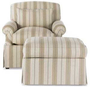 Drexel Heritage® Options Upholstery Program MacKenzie Chair and Ottoman