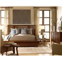 Drexel Heritage® Renderings Queen Latitude Platform Bed - Shown in Room Setting with Nightstand and End Table