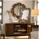 Drexel Heritage® Renderings Selat Mirror w/ Wood Frame - Shown with Credenza