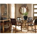 Drexel Heritage® Renderings Selat Mirror w/ Wood Frame - Shown in Room Setting with Table, Chairs and Console