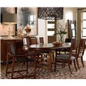 Drexel Heritage® Renderings Leade Oval Dining Table - Shown in Room Setting with Credenza and Chairs