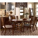 Drexel Heritage® Renderings Volt Arm Chair w/ Upholstered Seat - Shown with Side Chairs and Oval Table