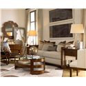 Drexel Heritage® Renderings Eaves Oval Cocktail Table - Shown in Room Setting with End Table