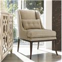 Drexel Heritage® Upholstered Accents Laurie Chair w/ Tufted Seat - Shown in Room Setting