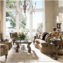 Drexel Heritage® Upholstered Accents Emilio Conversation Sofa - Shown in Room Setting
