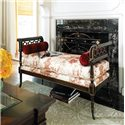 Drexel Heritage® Upholstered Accents Cornwall Upholstered Bench with Bolsters - Shown in Room Setting