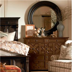 Drexel Viage  Tailhead Dresser with Mirror of Discovery