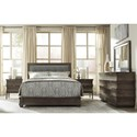 Durham Cascata King Tufted Upholstered Bed