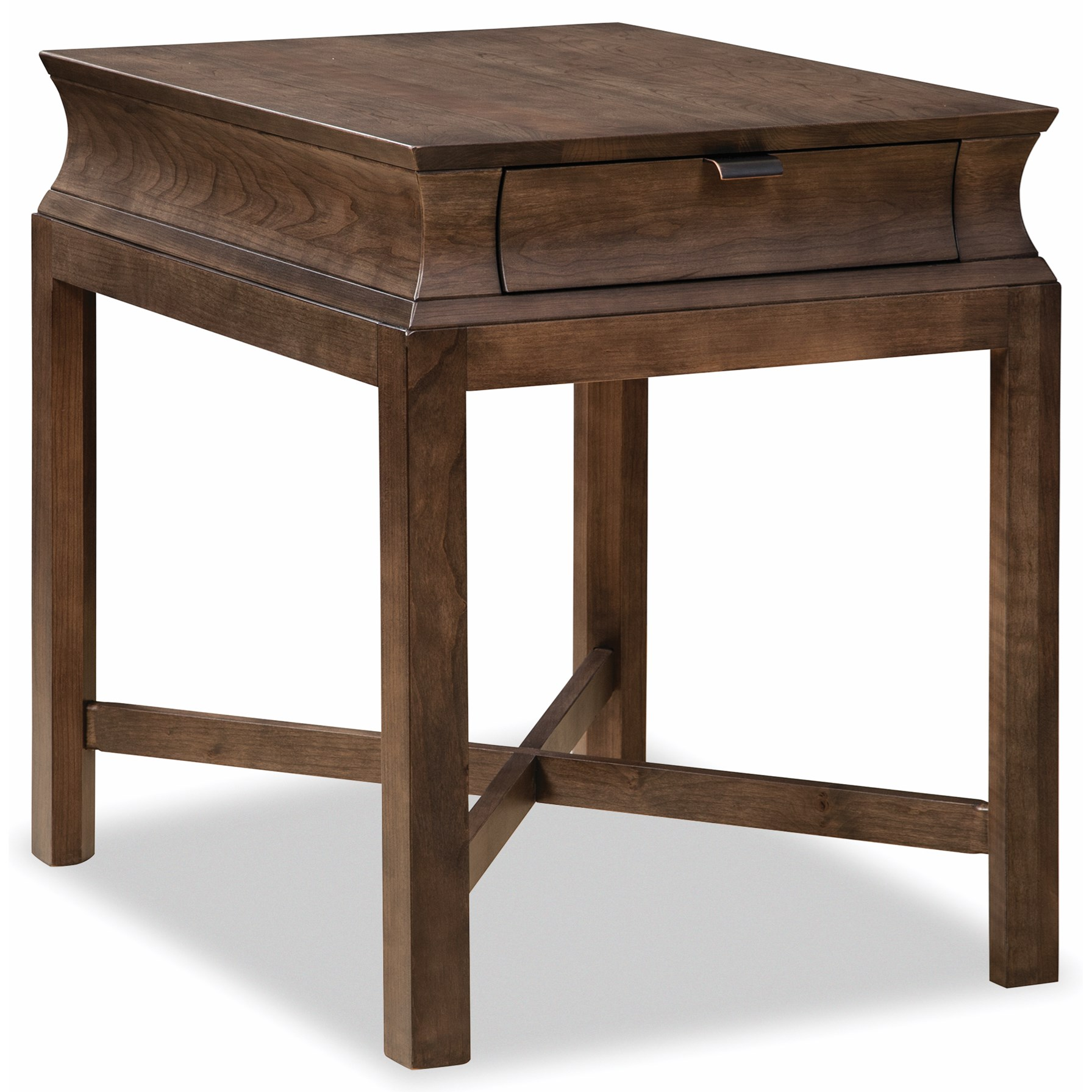 Cascata End Table by Durham at Jordan's Home Furnishings