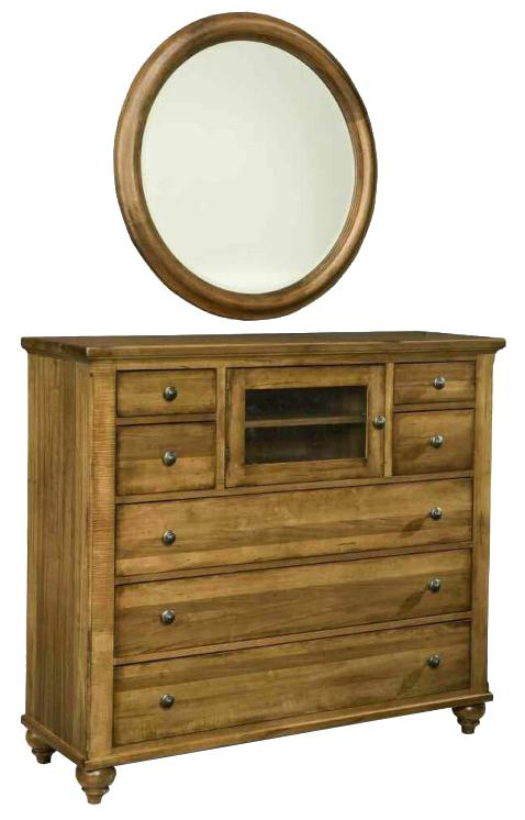 Hudson Falls  Media Chest and Mirror Set by Durham at Stoney Creek Furniture