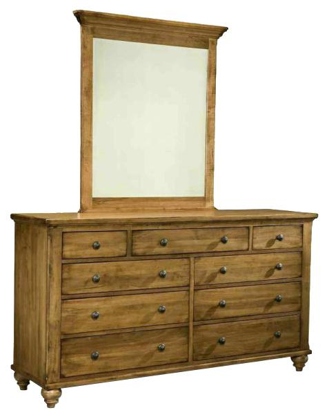 Hudson Falls  Triple Dresser and Vertical Mirror by Durham at Stoney Creek Furniture