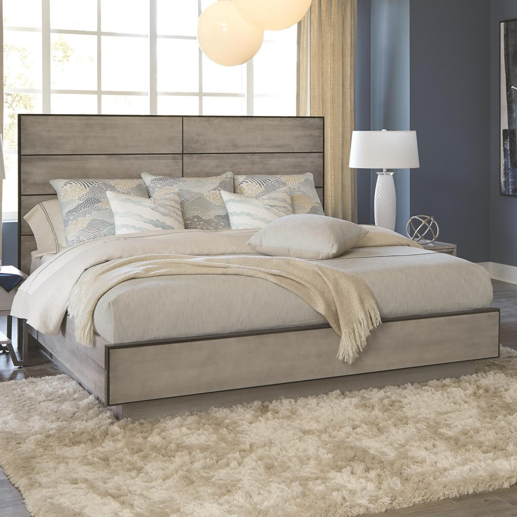 Milestone King Plinth Platform Bed by Durham at Stoney Creek Furniture