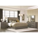 Durham Modern Simplicity King Upholstered Bed with Low Profile Base