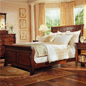 George Washington Architect Queen Master Sleigh Bed by Durham