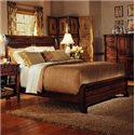 Durham George Washington Architect Queen Low Footboard Sleigh Bed - Item Number: 501-128H+125F