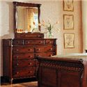 Durham Mount Vernon Dressing Chest with Vertical Mirror - Item Number: 501-169+189