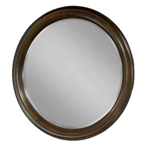 Parkwood  Contemporary Round Wall Mirror for Dresser by Durham