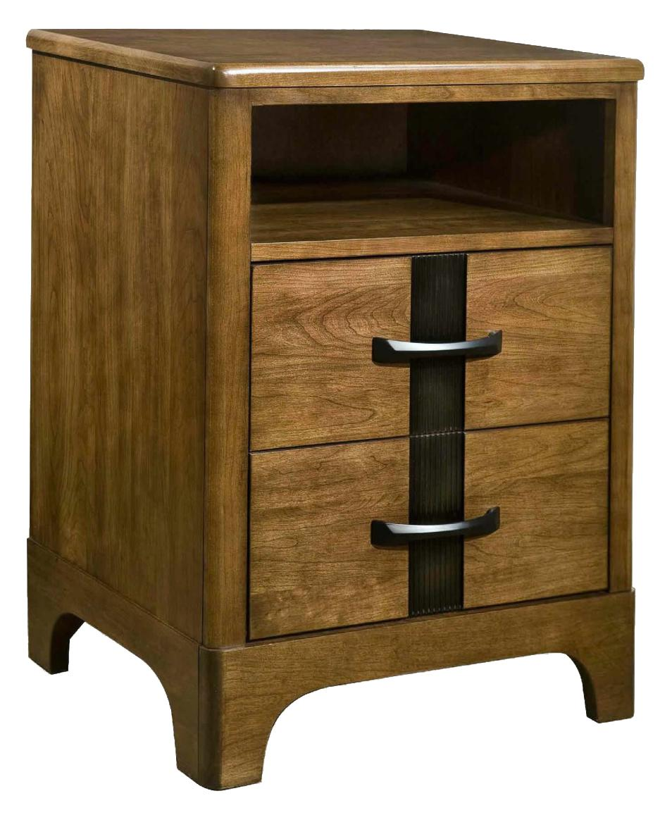 Durham parkwood two drawer night stand in modern furniture style