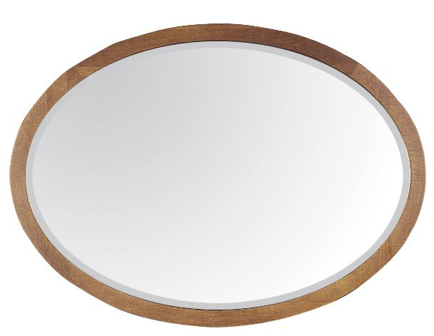 Durham Lodo Oval Mirror With Solid Wood Frame
