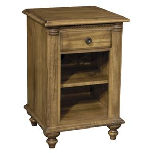 Summerset Signature Open Night Stand with Drawer and Shelf by Durham
