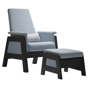 Dutalier 7321 Modern Accent Glider Chair and Ottoman Set with Soft Padding and Unique Style