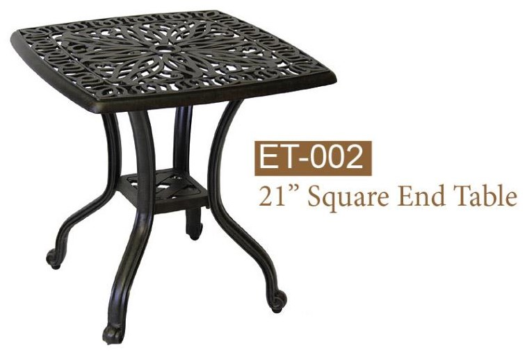 Lillian End Table by DWL Garden Furniture at Johnny Janosik
