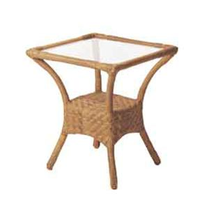 Avignon Small Side Table with Glass Top by Ebel