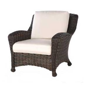 Dreux Club Chair with 6 Inch Seat and Backrest Cushions by Ebel