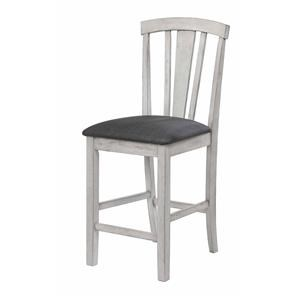 Panel Back Counter Chair