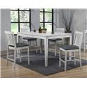 E.C.I. Furniture Summer Winds 5 Piece Counter Height Dining Room - Item Number: 0425-80-LCT-X-CS1